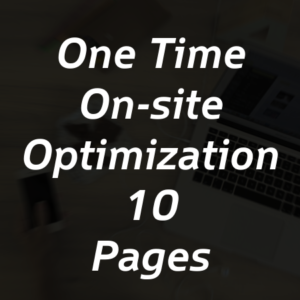 One Time On-site Optimization for 10 Pages