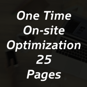 One Time On-site Optimization for 25 Pages